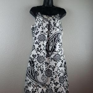 White House Black Market   Women's Silk Dress Sz10